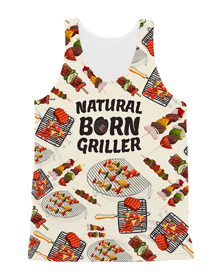 NATURAL BORN GRILLER 1806L All-over Unisex Tank
