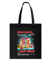Unicorn Dear santa 2809 Tote Bag thumbnail
