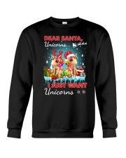Unicorn Dear santa 2809 Crewneck Sweatshirt thumbnail