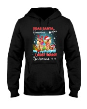 Unicorn Dear santa 2809 Hooded Sweatshirt thumbnail