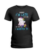 Unicorn late Ladies T-Shirt thumbnail
