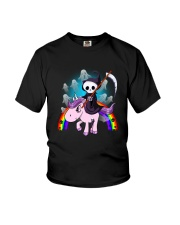 Death Riding Unicorn  Youth T-Shirt tile