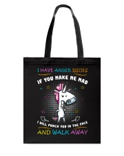 Unicorn I Have Anger Issues  Tote Bag thumbnail