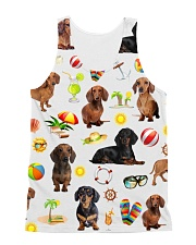 Dachshund Summer  All-over Unisex Tank front