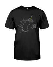 Unicorn and butterfly blink 2510 Classic T-Shirt thumbnail