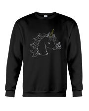 Unicorn and butterfly blink 2510 Crewneck Sweatshirt front