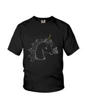 Unicorn and butterfly blink 2510 Youth T-Shirt thumbnail