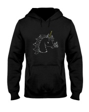Unicorn and butterfly blink 2510 Hooded Sweatshirt thumbnail