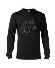 Unicorn and butterfly blink 2510 Long Sleeve Tee thumbnail
