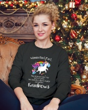 Unicorn Rainbown Crewneck Sweatshirt lifestyle-holiday-sweater-front-2
