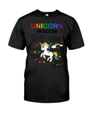 Unicorn wisdom 1707 Classic T-Shirt thumbnail