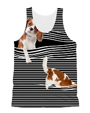 Cavalier King Charles Spaniel Stripped All-over Unisex Tank front