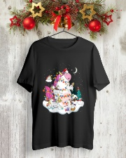 Funny Unicorn Christmas 0409 Classic T-Shirt lifestyle-holiday-crewneck-front-2