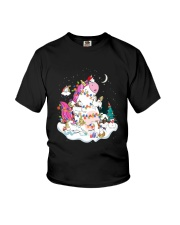 Funny Unicorn Christmas 0409 Youth T-Shirt thumbnail
