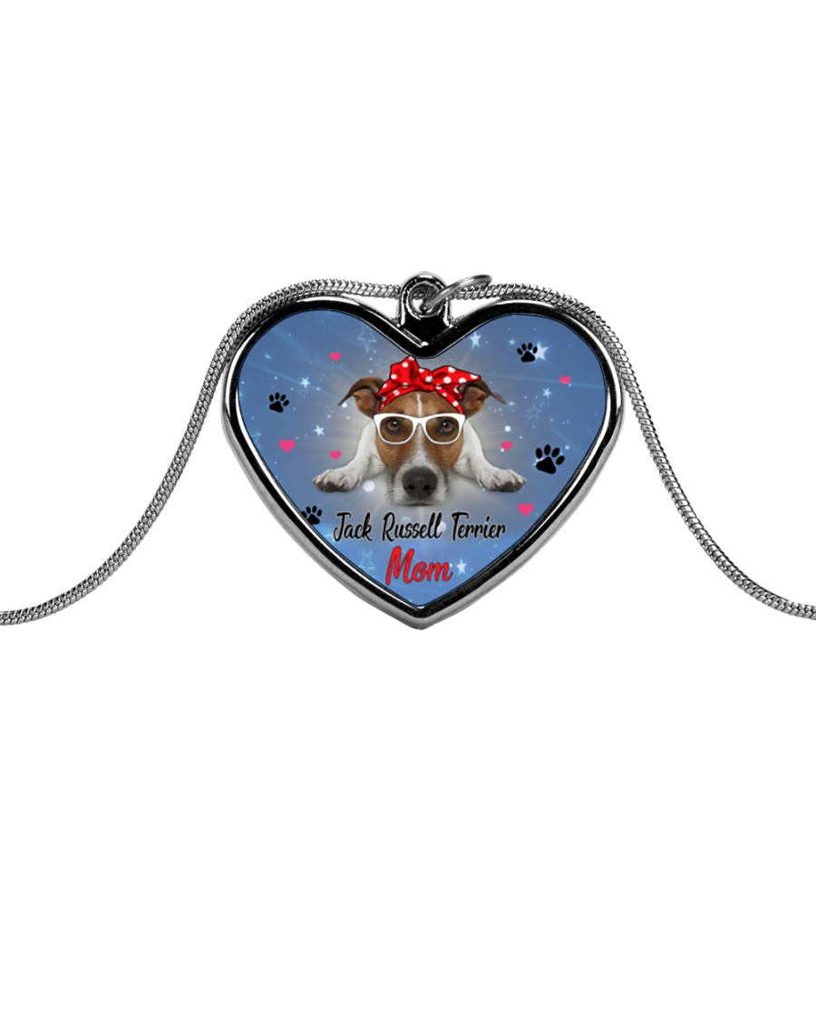 Jack Russell Terrier mom 2106P Metallic Heart Necklace