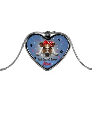 Jack Russell Terrier mom 2106P Metallic Heart Necklace front