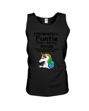 Unicorn Funtie Unisex Tank thumbnail
