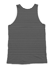 Boston Terrier Striped  All-over Unisex Tank back