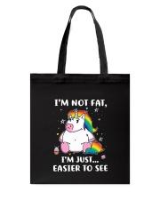 Unicorn not fat 0811 Tote Bag thumbnail