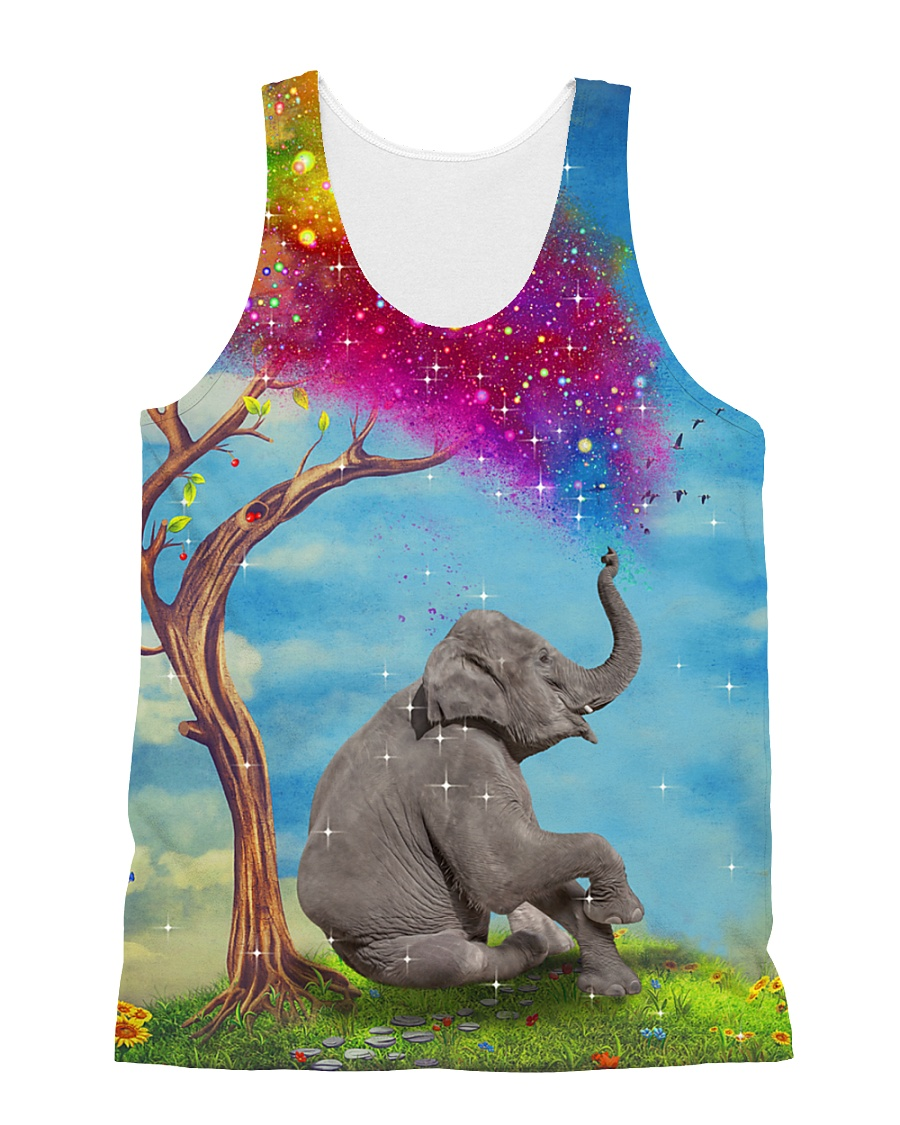 Elephant Colorful 1806 All-over Unisex Tank