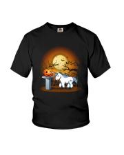 Unicorn and pumpkin Youth T-Shirt thumbnail