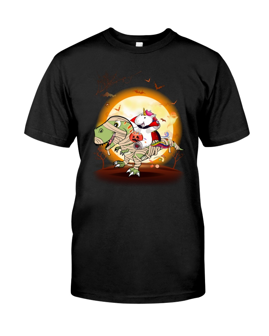 T-rex and Unicorn Halloween 3007 Classic T-Shirt