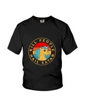Unicorn Hail satan Youth T-Shirt thumbnail