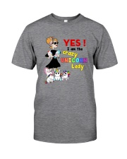 Crazy unicorn lady 1809 Classic T-Shirt front