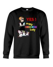 Crazy unicorn lady 1809 Crewneck Sweatshirt thumbnail