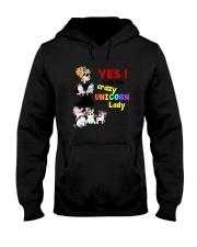 Crazy unicorn lady 1809 Hooded Sweatshirt thumbnail