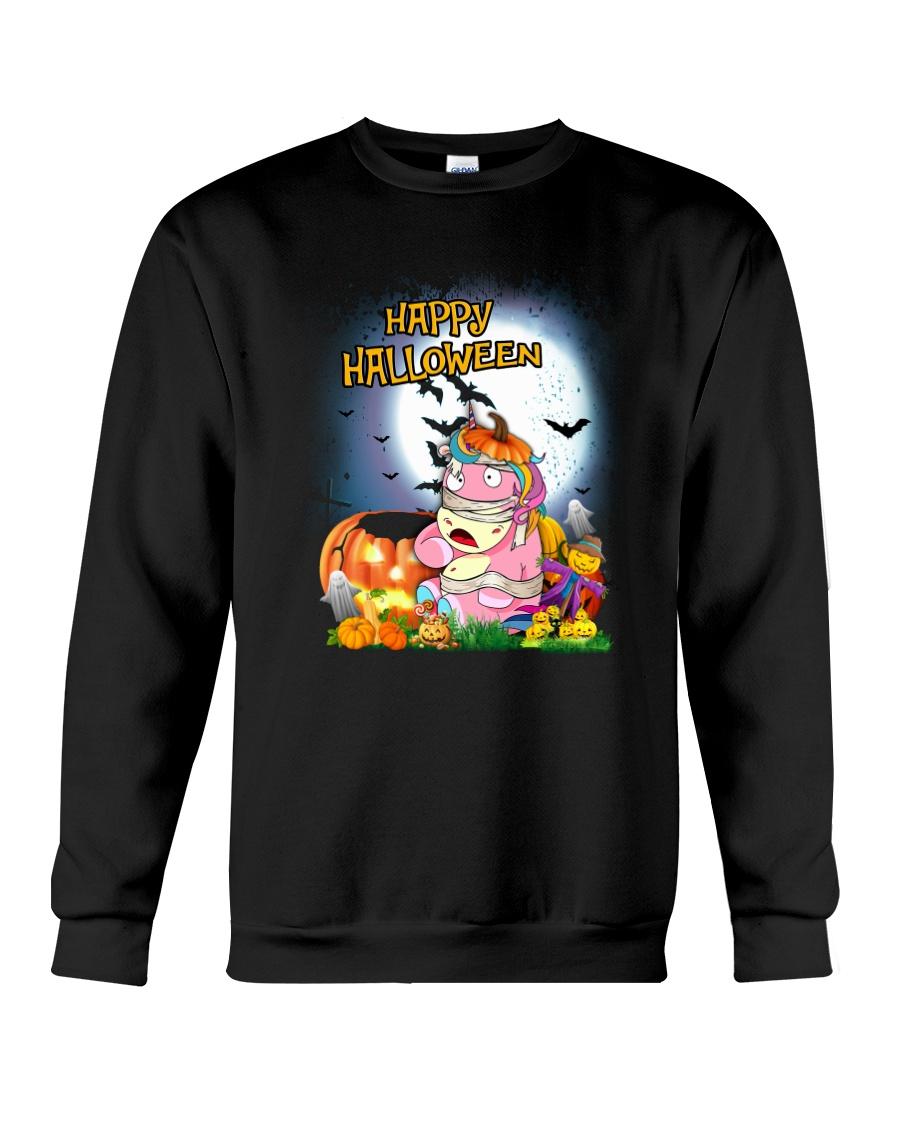 Unicorn Happy Halloween Crewneck Sweatshirt