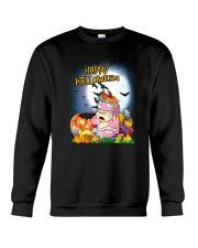 Unicorn Happy Halloween Crewneck Sweatshirt front