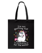 Unicorn Winter Tote Bag thumbnail