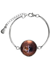 Wolf Couple  Metallic Circle Bracelet thumbnail