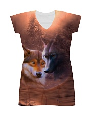 Wolf Couple  All-over Dress thumbnail