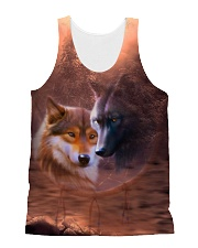 Wolf Couple  All-over Unisex Tank front
