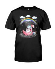 Flamingo Unicorn Classic T-Shirt front