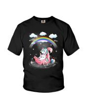 Flamingo Unicorn Youth T-Shirt thumbnail