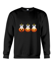 Unicorn pumpkin face 0308 Crewneck Sweatshirt thumbnail