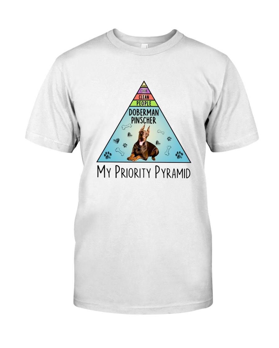 Doberman Pinscher Pyramid 1806 Classic T-Shirt