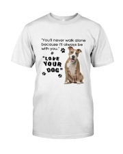American Staffordshire Terrier With You Classic T-Shirt thumbnail