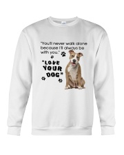 American Staffordshire Terrier With You Crewneck Sweatshirt thumbnail