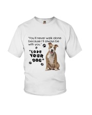 American Staffordshire Terrier With You Youth T-Shirt thumbnail