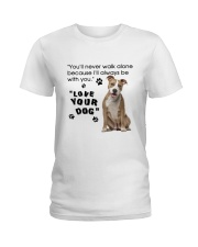 American Staffordshire Terrier With You Ladies T-Shirt thumbnail