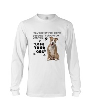 American Staffordshire Terrier With You Long Sleeve Tee thumbnail