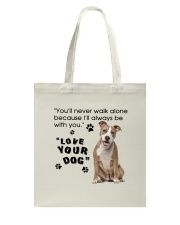 American Staffordshire Terrier With You Tote Bag thumbnail