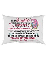 Unicorn You Are A Gift From Heaven 2409 Rectangular Pillowcase back