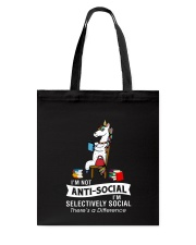 Unicorn anti social 1611 Tote Bag thumbnail