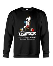 Unicorn anti social 1611 Crewneck Sweatshirt front