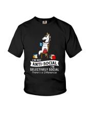 Unicorn anti social 1611 Youth T-Shirt thumbnail